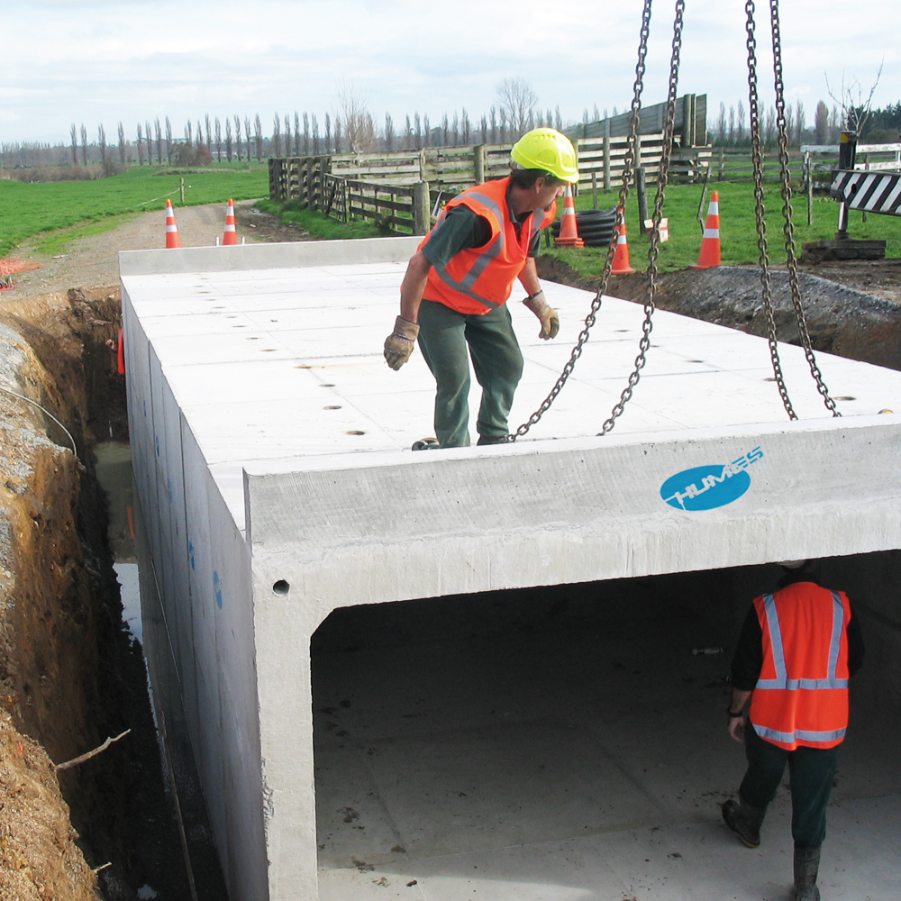 Humes Concrete Precast Rural Underpass being installed