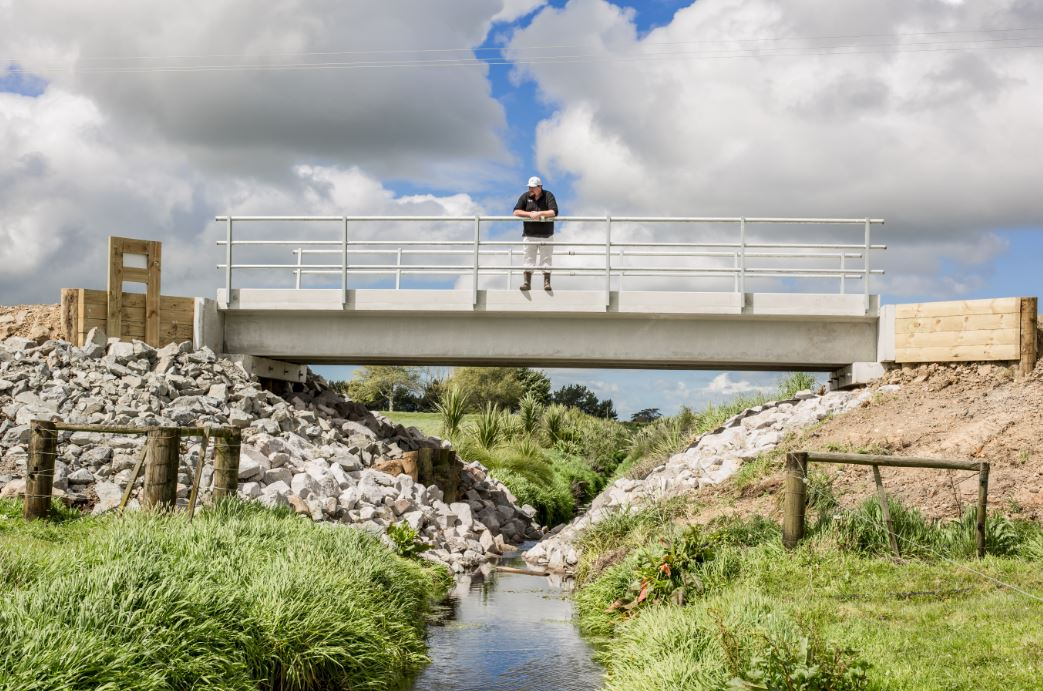 Humes double T rural bridge completed